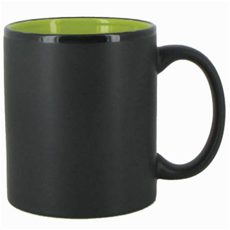 Handle Green Coffee 11 oz hilo c handle coffee mug matte black out lime