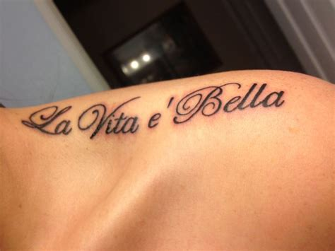 la bella vita tattoo my second la vita 232 is beautiful