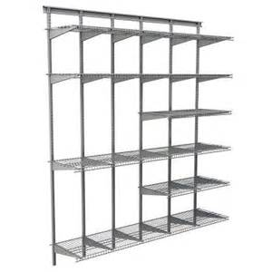 Ventilated Wire Closet Shelving Closetmaid Max Load Garage 6 Ft X 16 In Satin Chrome