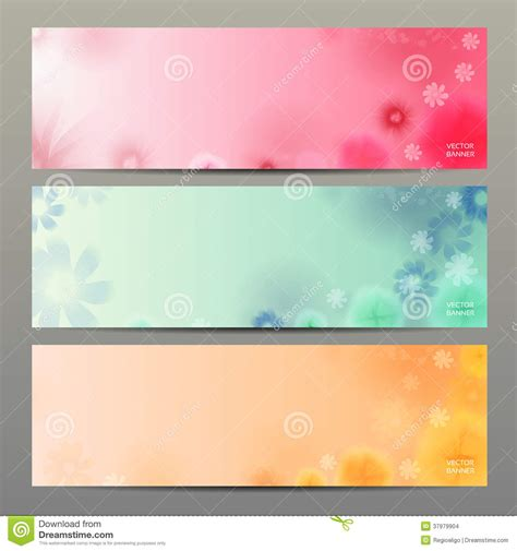 Abstract Flower Vector Background Brochure Template Banner Stock Vector Illustration 37979904 Flower Banner Template