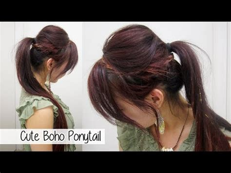 quick and easy edgy hairstyles cute ponytail hairstyles for medium long hair l chic edgy