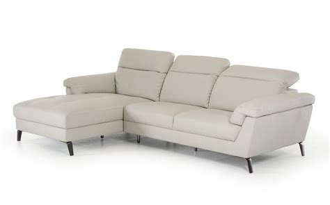 light grey leather sofa divani casa edelweiss modern light grey eco leather