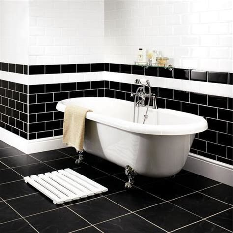 bathroom tile ideas black and white decorating ideas for a monochrome bathroom