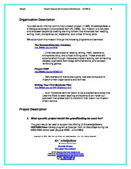 Sle Grant Template For After School Program Winning Grant Template After School Program