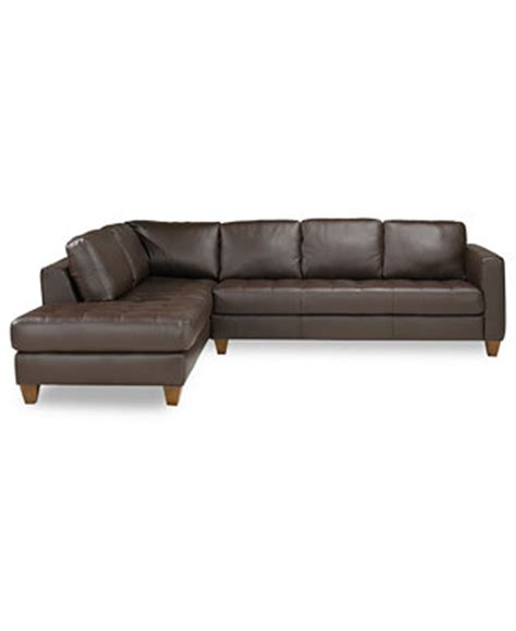 macys chaise milano leather 2 piece chaise sectional sofa furniture