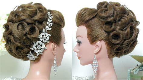 bridal hairstyle wedding updo  long hair tutorial