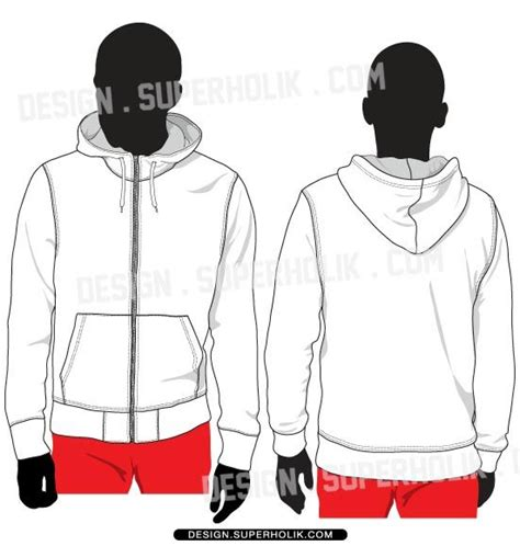 zip hoodie design template zip up hoodie vector template set flat fashion sketches