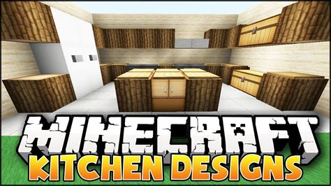 minecraft kitchen ideas minecraft nice kitchen designs ideas youtube