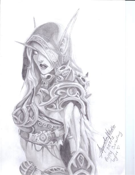 how to draw sylvanas sylvanas by alevwilhelm96 on