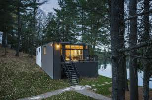 prefab in cottages prefab lake cottage with cross laminated timber