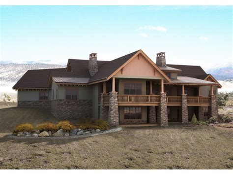 mountain house plans with walkout basement home design
