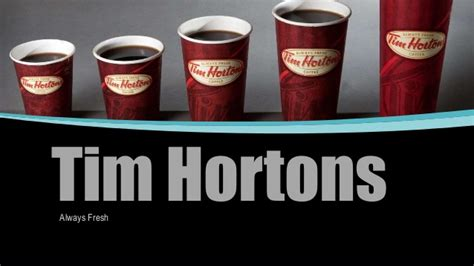 Tim Hortons Mba Program Salary by Tim Hortons Strategy And Competencies