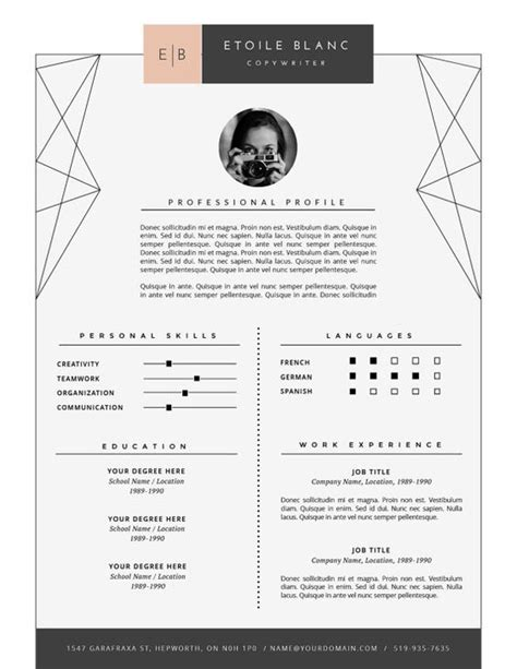 Plantilla De Curriculum Vitae Moderno Creative Cover Letter Template And Coupon Codes On