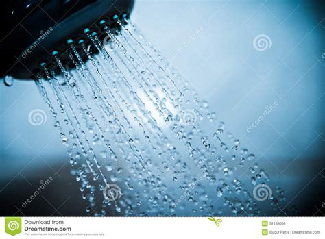 Water Coming Out Of Shower by Shower Stock Photo Image 51158056