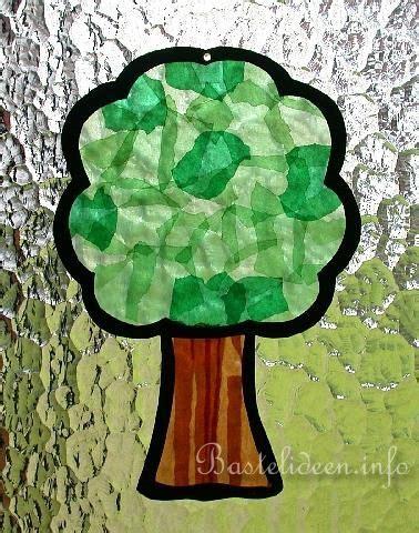 Herbst Baum Fenster by Basteln Mit Kindern Bastelideen Fensterbild Baum