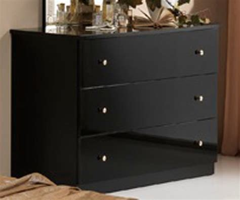 commode adulte commode 3 tiroirs athena chambre a coucher noir