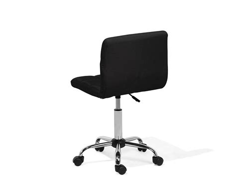 sgabello con rotelle sedia sgabello con rotelle in tessuto nero marion beliani it