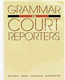 court reporter book grammar for court reporters 9781881859024
