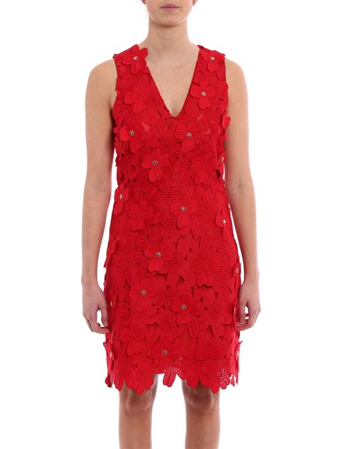 Michael Kors Lace floral applique lace dress by michael kors cocktail