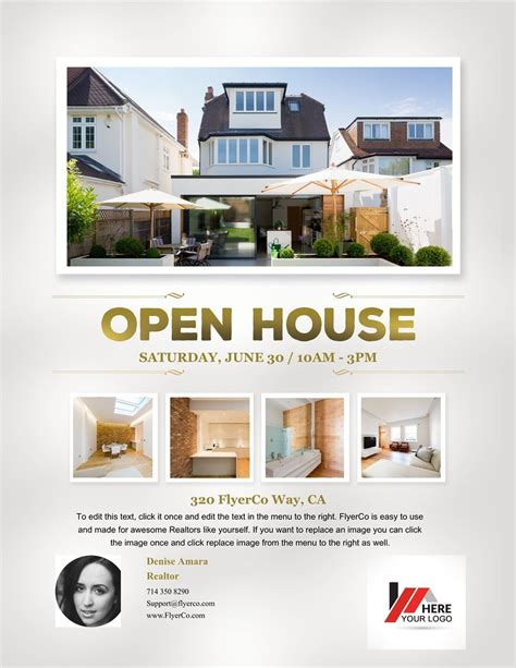 open house postcard template doc 900599 real estate open house flyers by kinzi21