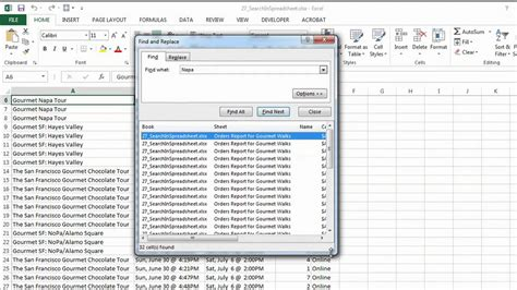 How To Search For How To Do A Search On An Excel Spreadsheet Microsoft Excel Help