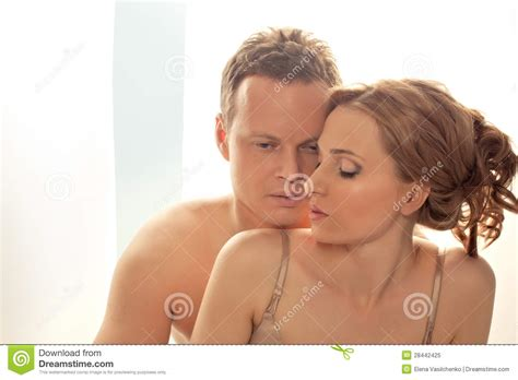 sexy couple in bed sexy young couple lay in bed only lingerie royalty free stock photo image 28442425