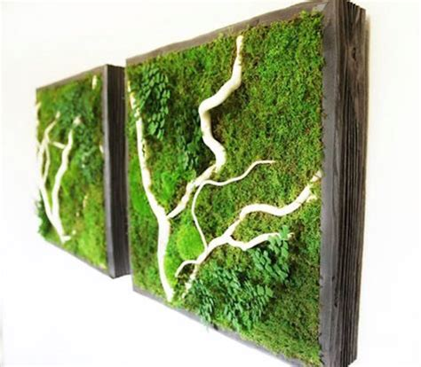Cool Planters by Artisan Moss Plant Paintings Effortlessly Bring The