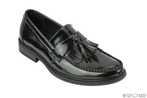 mens vintage loafers mens vintage polished leather tassel loafers retro mod