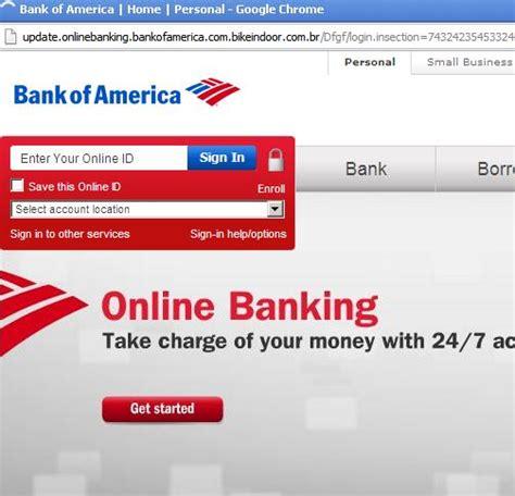 bank america website beware of quot banking alert quot phishing bank of america