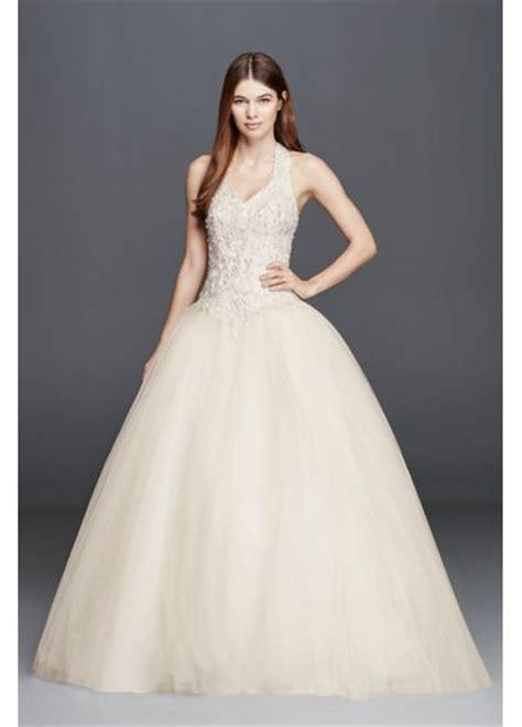 Basque Wedding Dress by Embellished Halter Wedding Dress With Basque Waist