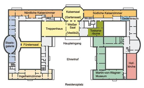 Apartments Plans by Bayerische Schl 246 Sserverwaltung Residenz W 252 Rzburg Rundgang