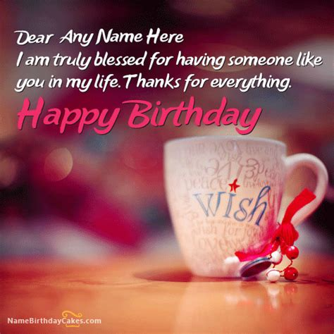 beautiful greeting card image with my lover name birthday wishes with name editor