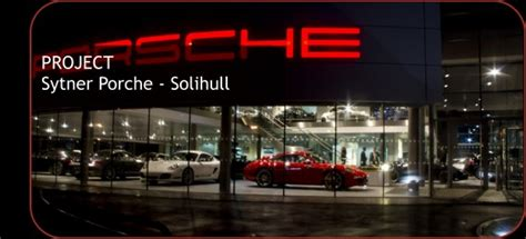 solihull porsche electrical installation at sytner porsche solihull