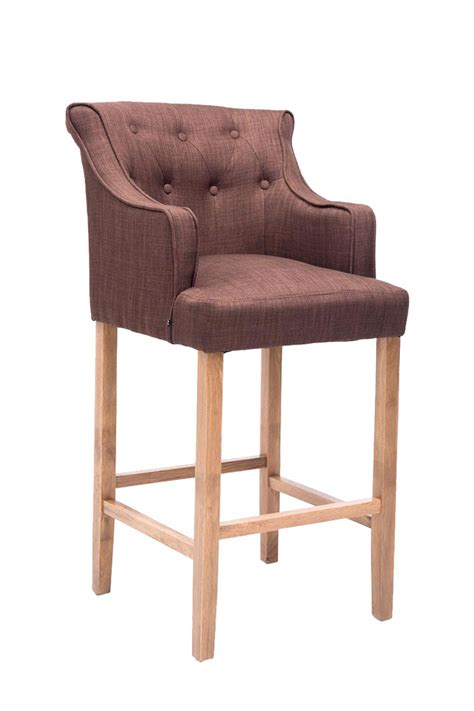Bar Stool Lykso Tweed Fabric Breakfast Kitchen Barstools Armchair Chair Pub New Ebay