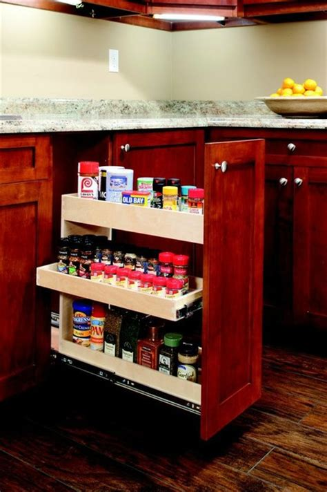 pull out spice rack other metro by shelfgenie of
