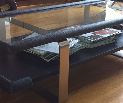 Coffee Table Bumpers How To Baby Proof Sharp Corners On The Cheap