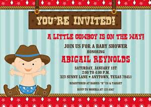 cowboy baby shower invitations by pmcinvitations on etsy