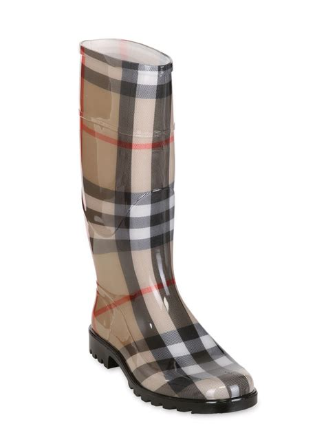 s burberry boots burberry house check boots in lyst