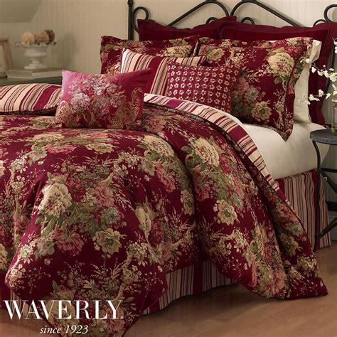 Floral Bedding Sets Waverly Ballad Bouquet Valance Floral Blue New Comforter Floral And Bedrooms