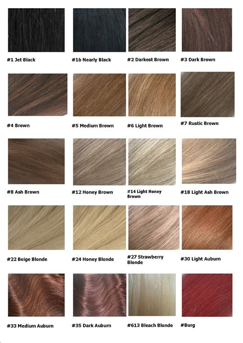 hair color chart 2 qlassyhairextensions colour chart remy hair extensions shop hair styles i