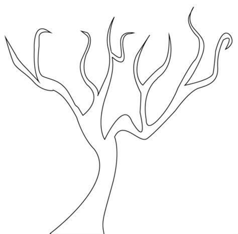 friendship tree template ausmalbild kahler baum ausmalbilder kostenlos zum