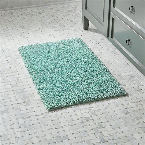 loop seafoam green bath rug crate  barrel