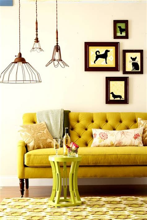 Living Room Mustard Sofa How To Design With And Around A Yellow Living Room Sofa
