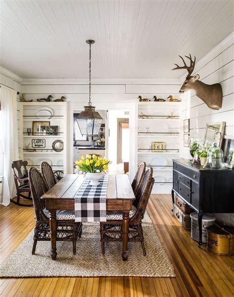 rustic farmhouse dining room design ideas  big