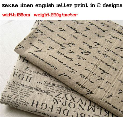 aliexpress in english free shipping zakka linen fabric english newspaper linen