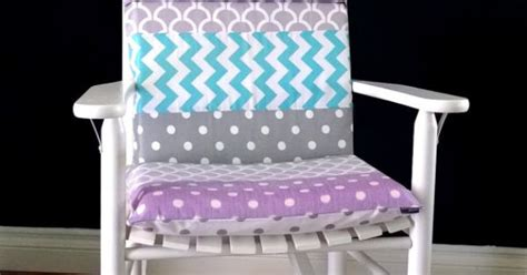 purple rocking chair cushions rocking chair cushion cover grey purple blue white