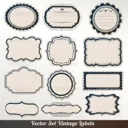 vintage label template 16 label vector frames free images vector