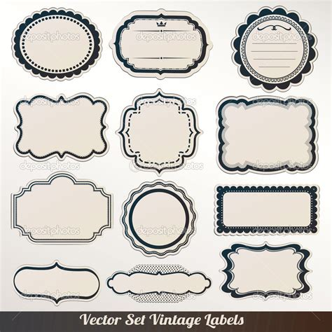 antique labels template 16 label vector frames free images vector