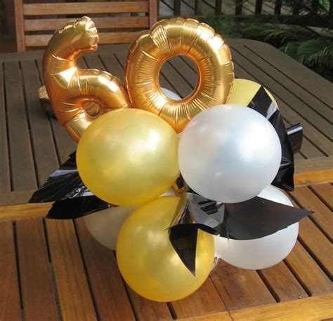 60th birthday table decorations ideas photograph balloon c