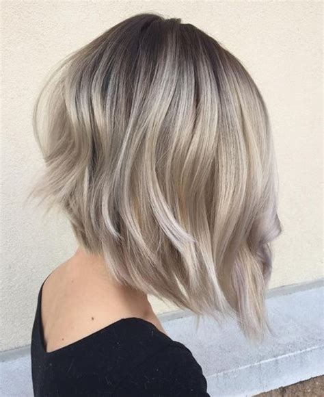 ashblond with silver highlites short hair crystal ash blonde hair color ideas for winter 2016 2017